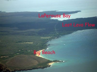 Aerial view of last lava flow