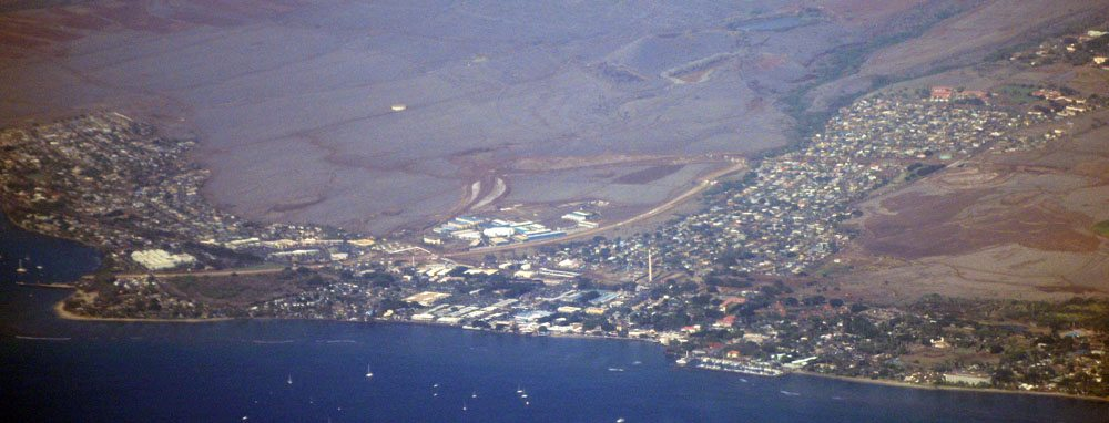 Lahaina Maui from the air