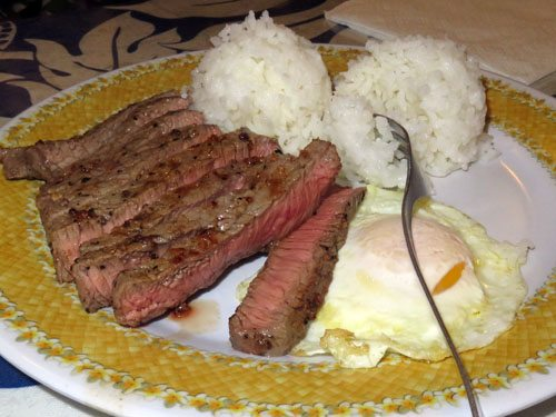 808 Grindz Maui steak & eggs