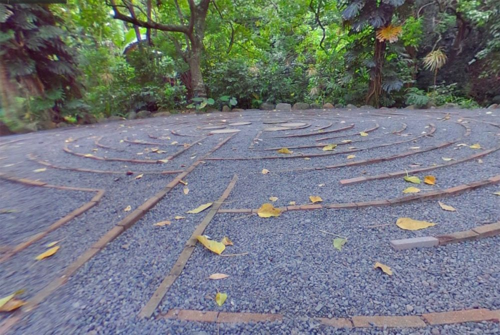 Sacred Garden labyrinth 360 degree view