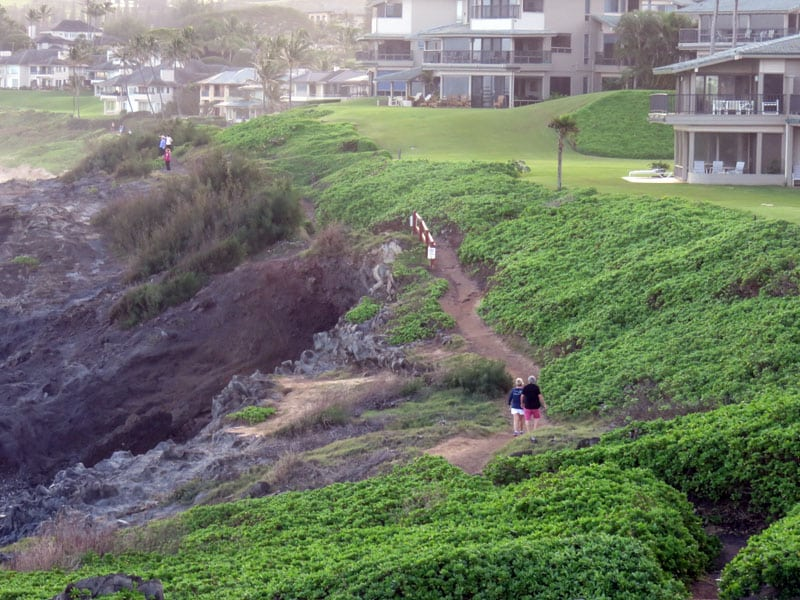 Kapalua Coastal Trail beside condos